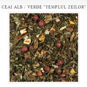 templul zeilor ceai alb verde