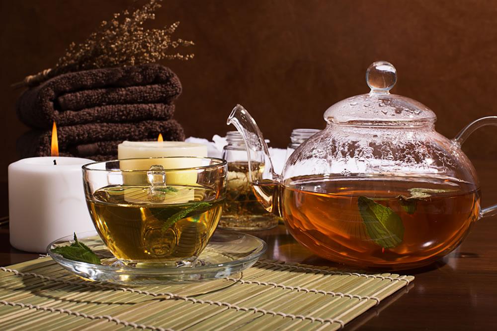 ceainic sticla