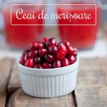 Ceaiul de merișoare – o ceașcă de sănătate și aromă
