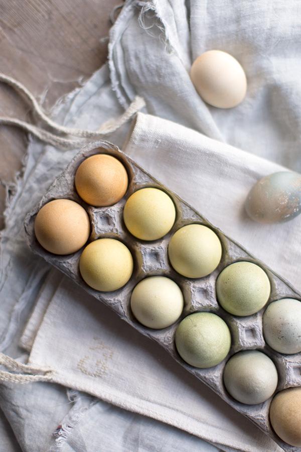 oua vopsite cu ceai