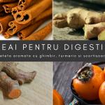 Ceai pentru digestie: turmeric, ghimbir și scorțișoară