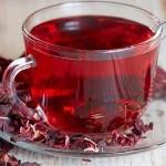 Hibiscus, culoarea din ceaiurile de fructe