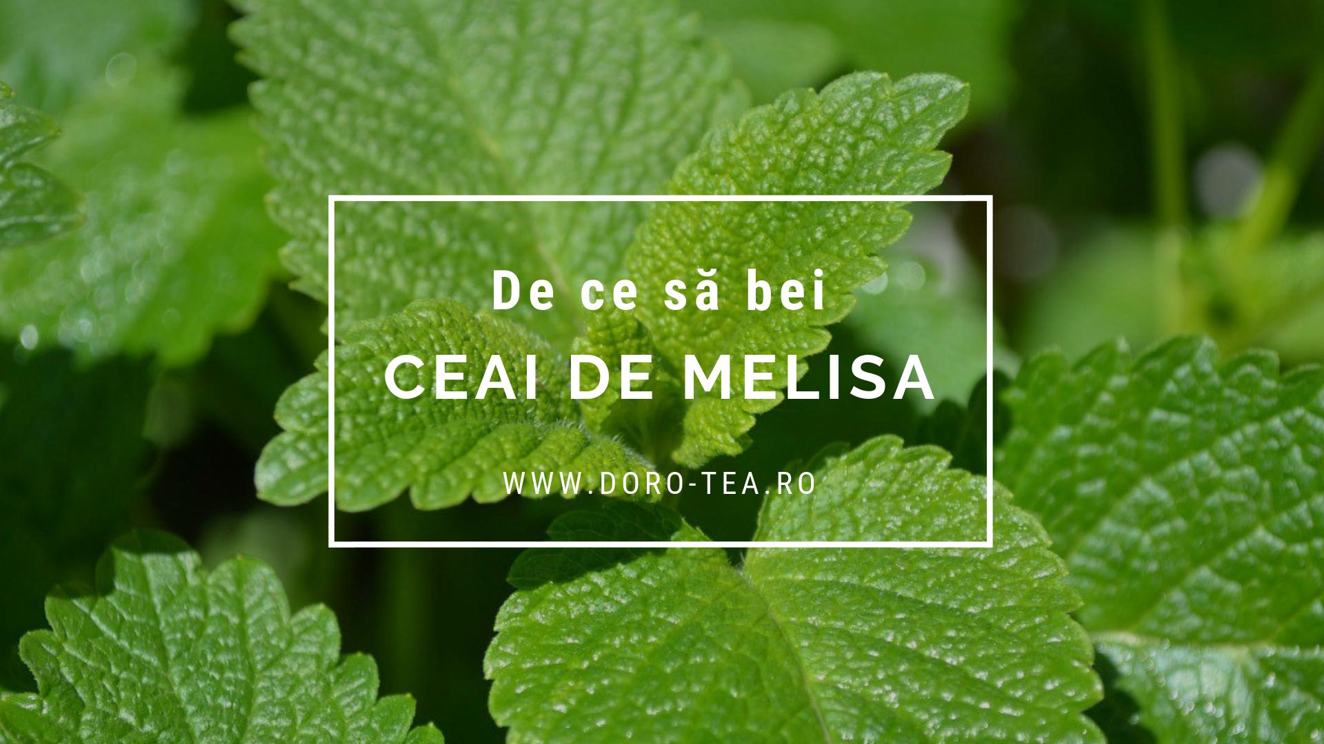 De ce să bei ceai de melisa (roiniță)