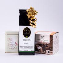 Set cadou: ceai cu filtru si cutie Tea Bird