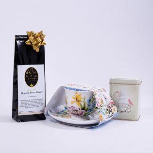 Set cadou: ceasca cu ceai si cutie