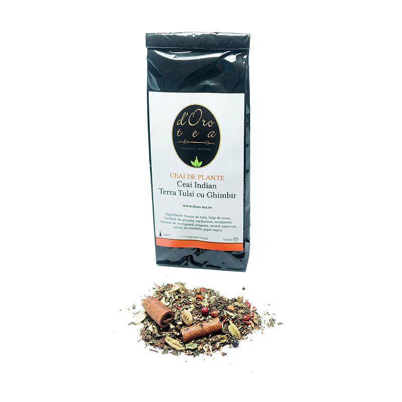 Ceai indian Terra Tulsi cu Ghimbir
