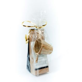 Set cadou: ceai alb, ceai verde si infuzor bambus
