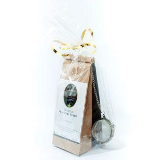 Set cadou: ceai negru, ceai rooibos si infuzor
