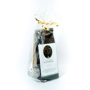Set cadou: ceai negru, ceai verde si infuzor metalic