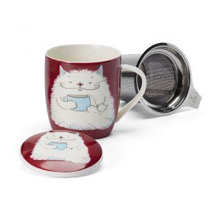 """Cana ceai """"Barny"""" 320ml cu capac si filtru inox"""