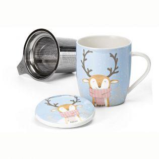 """Cana ceai """"Ed"""" 320ml cu capac si filtru inox"""