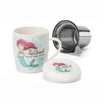 """Cana ceai """"Sirena"""" 320ml cu capac si filtru inox"""