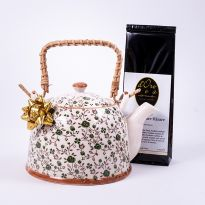 Set cadou: ceainic Sommer cu un ceai alb