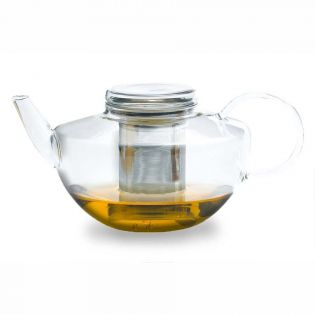 Ceainic sticla cu infuzor inox