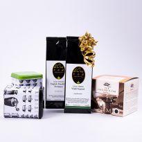 Set cadou: ceai verde si negru cu cutii si filtru