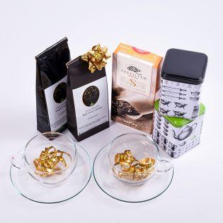 Set cesti Lotus cu cutii, filtre si ceaiuri
